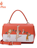 M.Plus® Women's Fashion Character PU Leather Messenger Shoulder Bag/Tote
