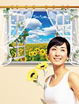 Floral / Paisagem / 3D Wall Stickers Autocolantes 3D para Parede,PVC 90*60cm