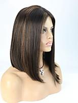 In Stock Highlight 1B/30 Bob Straight Brazilian Virgin Hair Lace Front Wig