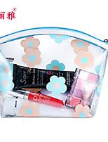 Rangement pour Maquillage Trousse à Cosmétiques / Rangement pour Maquillage PU Fleur Ellipse 20*10*12CM Noir / Rouge