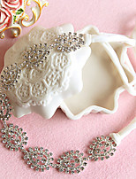 Bride's Flower Shape Rhinestone Forehead Wedding Headbands 1 PC