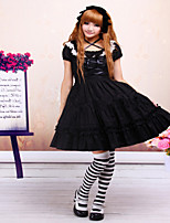 Cotton Black Classic Lolita Dress  JSK