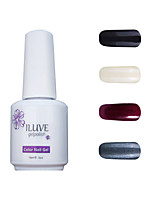 ILuve Gel Nail Polish Set - Pack Of 4 - Long Lasting 3 Weeks Soak Off UV Led Gel Varnish – For Nail Art #4055