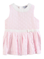 Girl's Pink Dress Cotton Summer