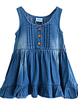 Girl's Blue Dress Cotton Spring / Fall