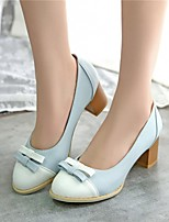 Women's Shoes Leatherette Chunky Heel Heels Heels Wedding / Office & Career / Party & Evening Blue / Pink