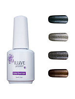 ILuve Gel Nail Polish Set - Pack Of 4 - Long Lasting 3 Weeks Soak Off UV Led Gel Varnish – For Nail Art #4020
