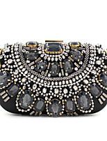 L.WEST® Women's Handmade Gem Diamonds Metal Chain Party/Evening Bag