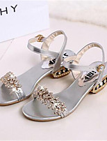 Women's Shoes  Chunky Heel Peep Toe Sandals Outdoor / Casual Black / Silver / Gold