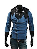 Sets Activewear Uomo Casual / Taglie forti Tinta unita Manica lunga Cotone / Poliestere