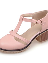 Women's Shoes Leatherette Chunky Heel Heels Heels Office & Career / Party & Evening / Dress / / Pink / White
