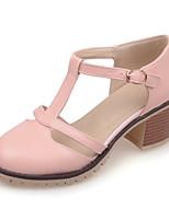 Chaussures Femme-Bureau & Travail / Décontracté / Soirée & Evénement / Habillé-Bleu / Rose / Blanc-Gros Talon-Talons-Talons-Similicuir