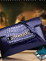 VUITTON Women PU Flap Shoulder Bag / Satchel-Blue / Red / Black