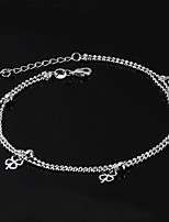 Women's Fashion Platinum Plated A Clover Anklets
