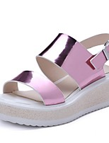 Women's Shoes Wedge Heel Wedges Sandals Party & Evening / Dress / Casual Pink / Silver / Gold / Beige