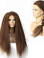 Afro kinky Straight Human Virgin Hair Full Lace/Lace Front Wig for Black Women