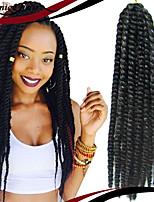 Eunice marca cabelo 1pack / lot 12-24 '' tranças de cabelo sintético havana torção do crochet 100% Kanekalon