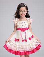 A-line Knee-length Flower Girl Dress-Organza / Satin / Polyester Sleeveless