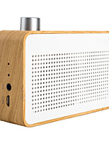 trozk mode draagbare hout bluetooth mini speaker radio / power bank functie wit