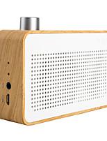 función de mini altavoz banco radio / bluetooth poder madera portable de la manera trozk blanco