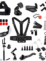 Chest Strap Head Mount Monopod Accessories Kit for GoPro Hero / Sj4000 - Black