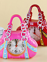 Handbag Shape Alarm Clock For Children Kids Bicycle Alarm Clock Home Art Decoration(Ramdon Color)