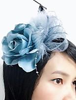 Women's Feather / Fabric / Net Headpiece-Wedding / Special Occasion Fascinators 1 Piece