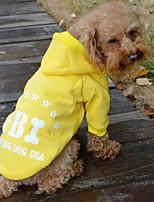 Cães Casacos / Camisola com Capuz / Roupa / vestuário Vermelho / Preto / Azul / Amarelo Inverno / Verão / Primavera/OutonoClássico / Cor