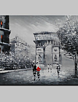 Mini Size Hand-Painted Paris City Landscape Modern Oil Painting On Canvas One Panel Ready To Hang 20x25cm