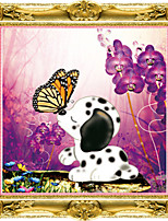 pintura de diamante 5d cachorro de punto de cruz amor romántico beso kits de bordado de diamantes ronda de la decoración del hogar del
