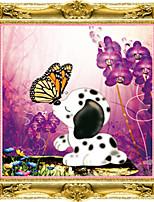 5d pintura diamante filhote de cachorro transversal do ponto de amor romântico beijo rodada diamante kits de bordados mosaico de diamantes