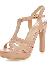 Women's Shoes Stiletto Heels/Platform/Open Toe Sandals Party & Evening/Dress Black/Pink/Almond