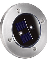 Solar 2-LED Decking Ground Light for Garden Landscape Lighting, Pathway, Stairway