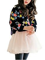 Vestido Chica de-Invierno-Algodón-Negro