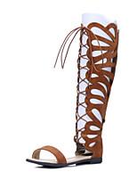 Women's ShoesFlat Heel Gladiator / Open Toe Sandals Party & Evening / Dress / Casual Black / Brown