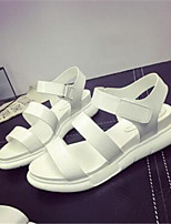 Women's Shoes Flat Heel Peep Toe / Creepers Sandals Office & Career / Casual Black / Red / White