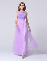 Formal Evening Dress-Lilac Sheath/Column Sweetheart Ankle-length Lace / Tulle