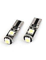 Yuejin etc 12v 1.5W 5050 3SMD levou erro pode-bus gratuito levou a lâmpada de leitura, levou 2pcs lâmpada porta por pacote