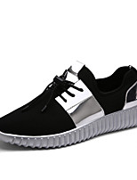 Men's Sneakers Comfort PU Spring Summer Outdoor Casual Lace-up Flat Heel Black/Silver Black/Gold Flat