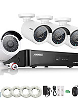 Annke® 4CH HD 1.3 MP 960P NVR POE Security IP Camera Kit System Home Network Outdoor
