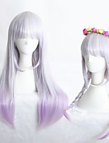 24inch Medium Long Straight Color Mixed Girls Synthetic Anime Lolita Wig CS-283A