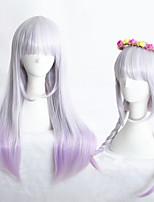 24inch medio lungo colore misto ragazze dritti parrucca del anime lolita sintetica cs-283a