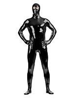Shiny Metallic Unitard Zentai Suit with Eyes Open