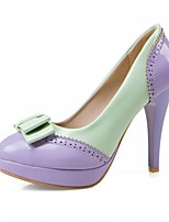 Women's Shoes Leatherette Stiletto Heel Heels Heels Wedding / Office & Career / Casual Green / Pink / Purple / White