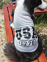 katten / honden T-shirt Rood / Blauw / Grijs Zomer / Lente/Herfst American / USA Modieus-Lovoyager