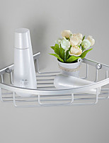 Single-deck Contemporary Space Aluminum Anodizing Wall Mounted Bathroom Shelf