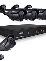 ZOSI@8CH 960H HDMI DVR 4PCS 1000TVL Waterproof Outdoor CCTV Home Security Camera System Kit