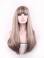 capless multi-couleurs de longue durée de haute qualité naturelle des cheveux raides perruque synthétique