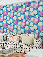 Contemporary Wallpaper Art Deco 3D Fashion Color Wallpaper Wall Covering Non-woven Fabric Wall Art