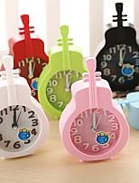 Creative Plastic  Mini violin  Desktop Needle Quartz Alarm Clock (Random Color)